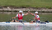 Sarasota. Florida USA.   Final A Gold Medalist. Bow. Annika VAN DER MEER and Corne DE  KONING. 2017 World Rowing Championships, Nathan Benderson Park<br /> <br /> Saturday  30.09.17   <br /> <br /> [Mandatory Credit. Peter SPURRIER/Intersport Images].<br /> <br /> <br /> NIKON CORPORATION -  NIKON D500  lens  VR 500mm f/4G IF-ED mm. 250 ISO 1/1250/sec. f 5