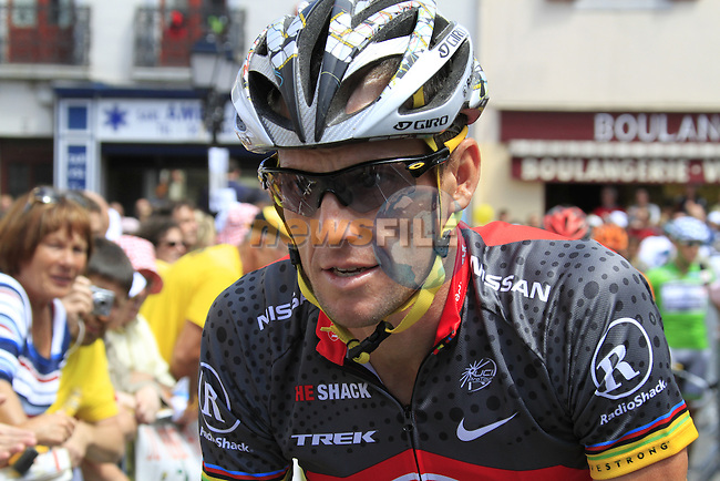 Lance Armstrong (Radioshack) at the start of  Stage 18 of the 2010 Tour de France from Salies-de-Bearn to Bordeaux, 23rd July 2010 (Photo by Eoin Clarke/NEWSFILE)