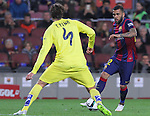 11.02.2015 Barcelona, Spain. Spanish Cup , Semi-final. Picture show Dani Alves in Action during game between FC Barcelona against Villareal at Camp Nou