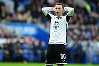 Bersant Celina of Swansea City looks dejected during the Sky Bet Championship match between Cardiff City and Swansea City at the Cardiff City Stadium in Cardiff, Wales, UK. Sunday 12 January 2020