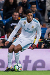 Raphael Varane of Real Madrid in action during the La Liga 2017-18 match between Real Madrid and SD Eibar at Estadio Santiago Bernabeu on 22 October 2017 in Madrid, Spain. Photo by Diego Gonzalez / Power Sport Images