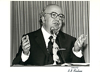 the 44th Prime Minister of Italy,Giovanni Spadolini visit in Montreal, July 21, 1981<br /> <br /> <br /> PHOTO : Agence Quebec Presse