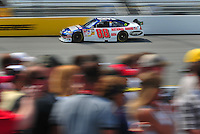 May 2, 2008; Richmond, VA, USA; NASCAR Sprint Cup Series driver Dale Earnhardt Jr during practice for the Dan Lowry 400 at the Richmond International Raceway. Mandatory Credit: Mark J. Rebilas-