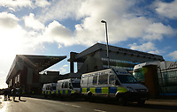 Police on high alert before the Sky Bet Championship match between Aston Villa and Birmingham City at Villa Park, Birmingham, England on 11 February 2018. Photo by Bradley Collyer/PRiME Media Images.