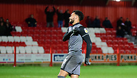 Lincoln City's Matt Green reacts after missing during the penalty shoot out<br /> <br /> Photographer Andrew Vaughan/CameraSport<br /> <br /> The EFL Checkatrade Trophy Second Round - Accrington Stanley v Lincoln City - Crown Ground - Accrington<br />  <br /> World Copyright © 2018 CameraSport. All rights reserved. 43 Linden Ave. Countesthorpe. Leicester. England. LE8 5PG - Tel: +44 (0) 116 277 4147 - admin@camerasport.com - www.camerasport.com