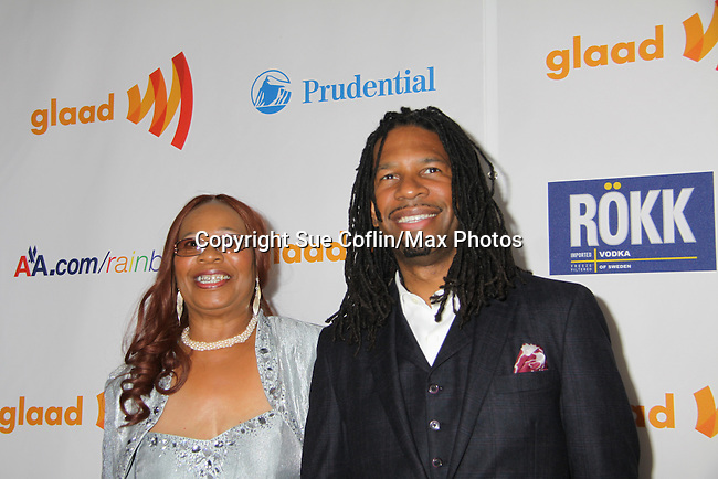 LZ Granderson (sports journalist) & mom at the 22nd Annual Glaad Media Awards honoring Ricky Martin (GH) & Russell Simmons on March 19, 2011 at the New York Marriott Marquis, New York City, New York. (Photo by Sue Coflin/Max Photos)