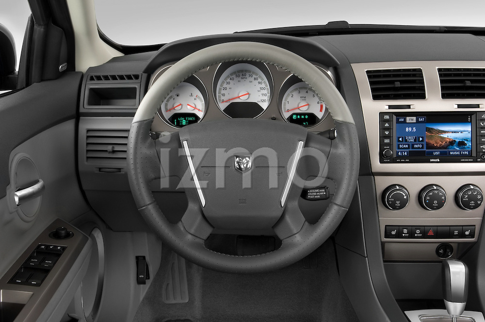 Steering wheel view of a 2008 Dodge Avenger RT