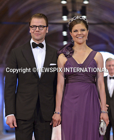 """CROWN PRINCESS VICTORIA AND PRINCE DANIEL OF SWEDEN WITH PRINCE NARUHITO.attend the gala farewell dinner for Queen Beatrix.at the Rijksmuseum in Amsterdam, The Netherlands_April 29, 2013..Crown Prince Willem-Alexander and Crown Princess Maxima will be proclaimed King and Queen  of The Netherlands on the abdication of Queen Beatrix on 30th April 2013..Mandatory Credit Photos: ©Utrecht/NEWSPIX INTERNATIONAL..**ALL FEES PAYABLE TO: """"NEWSPIX INTERNATIONAL""""**..PHOTO CREDIT MANDATORY!!: NEWSPIX INTERNATIONAL(Failure to credit will incur a surcharge of 100% of reproduction fees)..IMMEDIATE CONFIRMATION OF USAGE REQUIRED:.Newspix International, 31 Chinnery Hill, Bishop's Stortford, ENGLAND CM23 3PS.Tel:+441279 324672  ; Fax: +441279656877.Mobile:  0777568 1153.e-mail: info@newspixinternational.co.uk"""