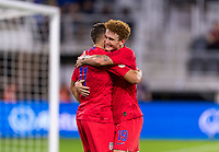 WASHINGTON, DC - OCTOBER 11: Josh Sargent #19 of the United States celebrates his goal during a game between Cuba and USMNT at Audi Field on October 11, 2019 in Washington, DC.