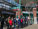 Fans wait for the gates to open on opening day for the Reno Aces at Greater Nevada Field in Reno, Nevada on Tuesday, April 9, 2019.