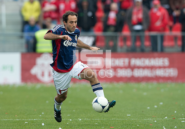 14 April 2012: Chivas USA midfielder Nick LaBrocca #10 in action during a game between Chivas USA and Toronto FC at BMO Field in Toronto..Chivas USA won 1-0.