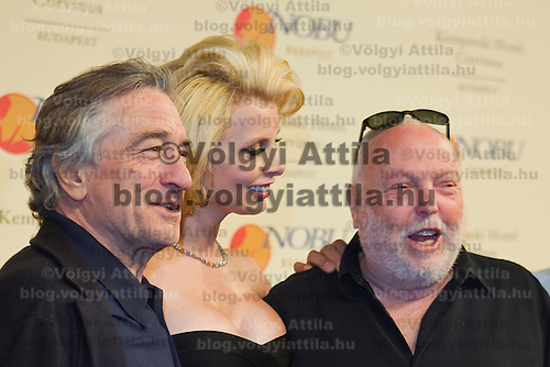 Actor Robert De Niro and producer Andrew G Vajna poses as celebrities arrive on the red carpet during the official opening of the Nobu restaurant in. Budapest, Hungary, Sunday, 10. October 2010. ATTILA VOLGYI