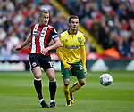 Paul Coutts of Sheffield Utd and James Maddison of Norwich City during the Championship match at Bramall Lane Stadium, Sheffield. Picture date 16th September 2017. Picture credit should read: Simon Bellis/Sportimage