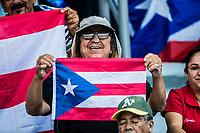 Aficionados de Puerto Rico.<br /> .<br /> Partido de beisbol de la Serie del Caribe con el encuentro entre Caribes de Anzo&aacute;tegui de Venezuela  contra los Criollos de Caguas de Puerto Rico en estadio Panamericano en Guadalajara, M&eacute;xico,  s&aacute;bado 5 feb 2018. <br /> (Foto: Luis Gutierrez)<br /> <br /> Baseball game of the Caribbean Series with the match between Caribes de Anzo&aacute;tegui of Venezuela against the Criollos de Caguas of Puerto Rico, at the Pan American Stadium in Guadalajara, Mexico, Saturday, February 5, 2018.<br /> (Photo: Luis Gutierrez)
