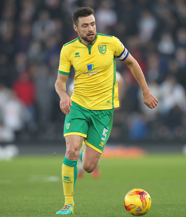 Norwich City's Russell Martin<br /> <br /> Photographer Mick Walker/CameraSport<br /> <br /> The EFL Sky Bet Championship - Derby County v Norwich City - Saturday 26th November 2016 -Pride Park - Derby<br /> <br /> World Copyright &copy; 2016 CameraSport. All rights reserved. 43 Linden Ave. Countesthorpe. Leicester. England. LE8 5PG - Tel: +44 (0) 116 277 4147 - admin@camerasport.com - www.camerasport.com