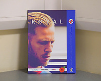 Michael Morrison of Reading on the front of the match day programme during Reading vs Luton Town, Sky Bet EFL Championship Football at the Madejski Stadium on 9th November 2019
