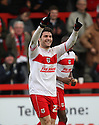 Dani Lopez of Stevenage  celebrates scoring his third goal . Stevenage v Sheffield United - npower League 1 -  Lamex Stadium, Stevenage - 16th March, 2013. © Kevin Coleman 2013.. . . .