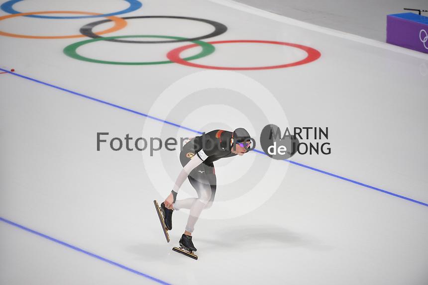 OLYMPIC GAMES: PYEONGCHANG: 15-02-2018, Gangneung Oval, Long Track, 10.000m Men, Moritz Geisreiter (GER), ©photo Martin de Jong