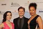 Meryl Davis & Charlie White with Tamara Tunie (ATWT) - The 11th Annual Skating with the Stars Gala - a benefit gala for Figure Skating in Harlem - honoring Meryl Davis & Charlie White (Olympic Ice Dance Champions and Meryl winner on Dancing with the Stars) and presented award by Tamron Hall on April 11, 2016 on Park Avenue in New York City, New York with many Olympic Skaters and Celebrities. (Photo by Sue Coflin/Max Photos)