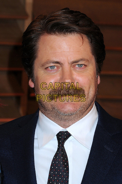 02 March 2014 - West Hollywood, California - Nick Offerman. 2014 Vanity Fair Oscar Party following the 86th Academy Awards held at Sunset Plaza.<br /> CAP/ADM/BP<br /> &copy;Byron Purvis/AdMedia/Capital Pictures