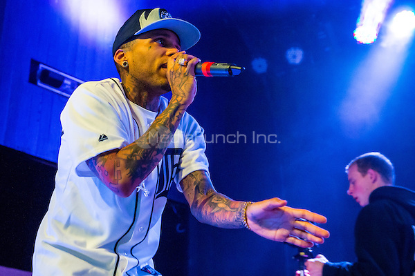 DETROIT, MI - APRIL 25: Kid Ink performs at Saint Andrews Hall on April 25, 2014 in Detroit, Michigan. Photo Credit: RTNSchwegler/MediaPunch