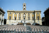 Italy: Rome--Campidoglio. Seating setup for event. Photo '83.