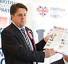 British National Party election manifesto launch for the May 3 London Assembly elections in East London, Great Britain <br /> 9th April 2012 <br /> <br /> <br /> <br /> Nick Griffin - chairman / leader of the BNP <br /> <br /> <br /> Photograph by Elliott Franks
