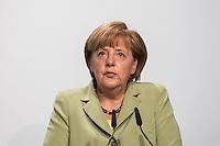 Berlin, Bundeskanzlerin Angela Merkel (CDU), spricht am Dienstag (11.06.13) in Berliner Deutschlandhaus, anlässlich des Baubeginns Dokumentationszentrums der Stiftung Flucht, Vertreibung, Versöhnung. Foto: Maja Hitij/CommonLens