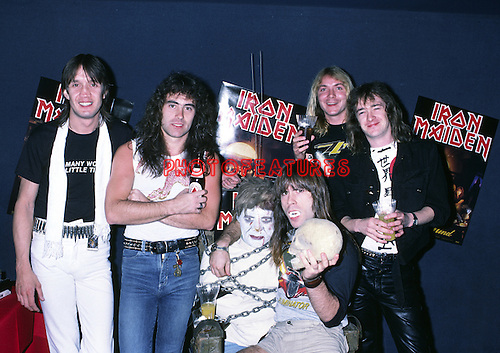 Iron Maiden 1983 Nicko McBrain, Steve Harris, Bruce Dickinson, Dave Murray and Adrian Smith.<br /> &copy; Chris Walter