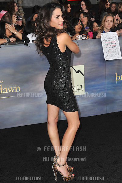 "Inbar Lavi at the world premiere of ""The Twilight Saga: Breaking Dawn - Part 2"" at the Nokia Theatre LA Live..November 12, 2012  Los Angeles, CA.Picture: Paul Smith / Featureflash"