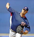 17 March 2007: Washington Nationals pitcher Jon Rauch in action against the New York Mets at Tradition Field in Port St. Lucie, Florida...Mandatory Photo Credit: Ed Wolfstein Photo