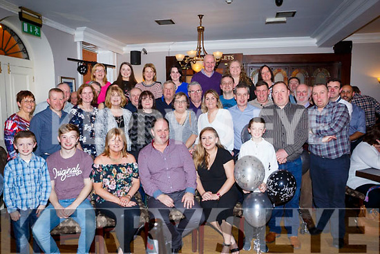 John Dillane of Mounthawk, seated centre, celebrates his BIG 50 with his family and friends in the Imperial Hotel on Friday night last.