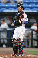 April 15, 2009:  Catcher Francisco Pena (17) of the St. Lucie Mets, Florida State League Class-A affiliate of the New York Mets, during a game at Tradition Field in St. Lucie, FL.  Photo by:  Mike Janes/Four Seam Images