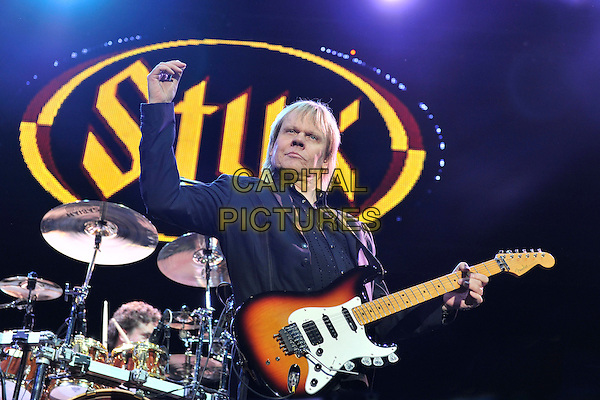 Styx - James Young.Styx performing live at Wembley Arena, London, England..June 4th, 2011.stage concert live gig performance music half length black  jacket guitar.CAP/MAR.© Martin Harris/Capital Pictures.