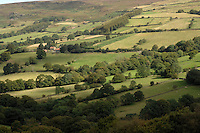 Green countryside of the Yorkshire moors, Farndale moor, North Yorkshire, England. Sep 2007