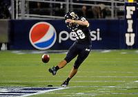 Florida International University football player kicker Jack Griffin (38)   plays against the Florida Atlantic University on November 12, 2011 at Miami, Florida. FIU won the game 41-7. .
