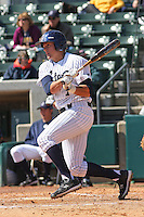 Drew Hillman of the University of California at Irvine at the plate during a game against James Madison University at the Baseball at the Beach Tournament held at BB&T Coastal Field in Myrtle Beach, SC on February 28, 2010.