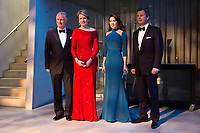 Le roi Philippe de Belgique et la reine Mathilde de Belgique en visite d'Etat au Danemark, lors de la soir&eacute;e &quot; The Black Diamond &quot;, en pr&eacute;sence du Prince Joachim de Danemark  la princesse Marie de Danemark, la princesse Mary de Danemark, le Prince Frederik de Danemark et la reine Margrethe II de Danemark.<br /> Danemark, Copenhague, 30 mars 2017.<br /> King Philippe of Belgium &amp; Queen Mathilde of Belgium during a State Visit to Copenhagen in Denmark are attending The Black Diamond event, with Crown Prince Joachim of Denmark,  Princess Marie of Denmark, princess Mary of Denmark, Prince Frederik of Denmark and Queen Margrethe II of Denmark.<br /> Denmark, Copenhagen, March 30, 2017.<br /> Pic : King Philippe of Belgium, Queen Mathilde of Belgium, Prince Frederik &amp; Princess Mary of Denmark