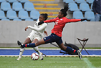 20190113 - LILLE , FRANCE : LOSC's Laetitia Chapeh (L) and PSG's Kadidiatou Diani (L) pictured during women soccer game between the women teams of Lille OSC and Paris Saint Germain  during the 16 th matchday for the Championship D1 Feminines at stade Lille Metropole , Sunday 13th of January 2019,  PHOTO Dirk Vuylsteke | Sportpix.Be