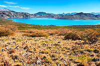 The turquoise waters of Lago Dos beckon anglers in central Patagonia.