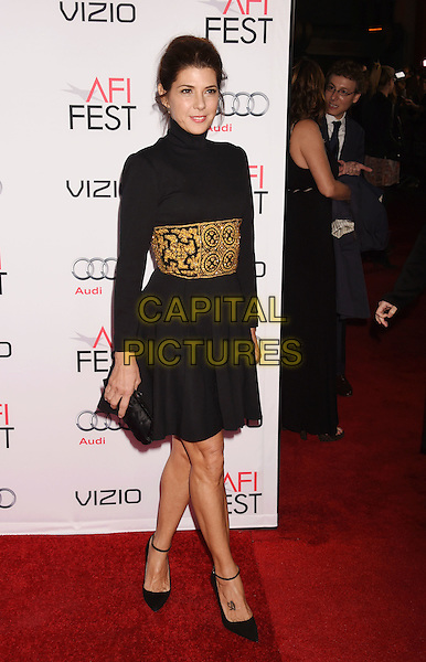 HOLLYWOOD, CA - NOVEMBER 12: Actress Marisa Tomei arrives at the AFI FEST 2015 Presented By Audi Closing Night Gala Premiere of Paramount Pictures' 'The Big Short' at TCL Chinese 6 Theatres on November 12, 2015 in Hollywood, California.<br /> <br /> CAP/ROT/TM<br /> &copy;TM/ROT/Capital Pictures