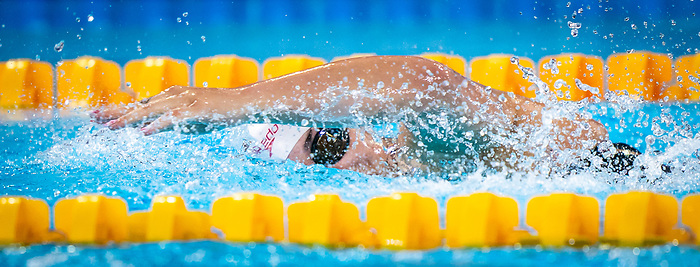 Lima, Peru -  28/August/2019 -  Krystal Shaw competes in the women's 50m freestyle S7 at the Parapan Am Games in Lima, Peru. Photo: Dave Holland/Canadian Paralympic Committee.