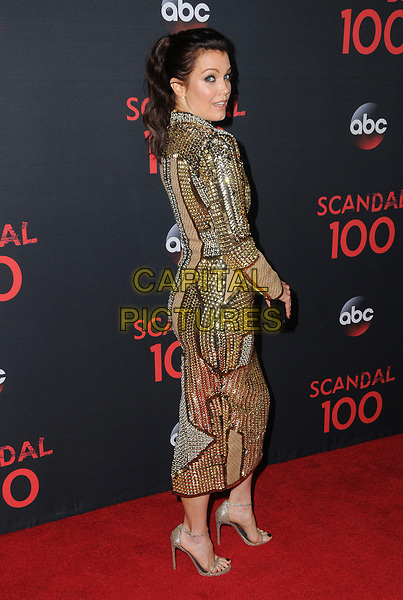 08 April 2017 - West Hollywood, California - Bellamy Young. ABC's 'Scandal' 100th Episode Celebration held at Fig &amp; Olive in West Hollywood.   <br /> CAP/ADM/BT<br /> &copy;BT/ADM/Capital Pictures