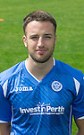 New St Johnstone signing Brad McKay pictured wearing the new home strip for the 2015-16 season...<br /> Picture by Graeme Hart.<br /> Copyright Perthshire Picture Agency<br /> Tel: 01738 623350  Mobile: 07990 594431
