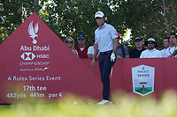 Reanato Paratore (ITA) on the 17th tee during Round 3 of the Abu Dhabi HSBC Championship at the Abu Dhabi Golf Club, Abu Dhabi, United Arab Emirates. 18/01/2020<br /> Picture: Golffile | Thos Caffrey<br /> <br /> <br /> All photo usage must carry mandatory copyright credit (© Golffile | Thos Caffrey)