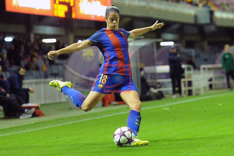 UEFA Women's Champions League 2016/2017.<br /> Round of 16 - First Leg<br /> FC Barcelona vs Twente: 1-0.<br /> Marta Torrejon.