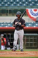Jupiter Hammerheads Isael Soto (15) at bat during a Florida State League game against the Florida Fire Frogs on April 8, 2019 at Osceola County Stadium in Kissimmee, Florida.  Florida defeated Jupiter 7-6 in ten innings.  (Mike Janes/Four Seam Images)