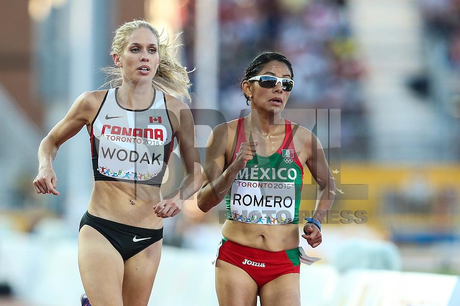 TORONTO, CANADÁ, 23.07.2015 - PAN-ATLETISMO - Canadense Natasha Wodak e a mexicana Marisol Romero no atletismo nos Jogos Panamericanos na cidade de Toronto no Canadá, nesta quinta-feira, 23 (Foto: Vanessa Carvalho/Brazil Photo Press)