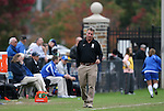 25 October 2009: Duke head coach Robbie Church. The Duke University Blue Devils defeated the Virginia Tech Hokies 4-1 at Koskinen Stadium in Durham, North Carolina in an NCAA Division I Women's college soccer game.