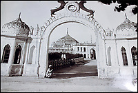 BNPS.co.uk (01202 558833)<br /> Pic: CanterburyAuctionGalleries/BNPS<br /> <br /> Mausoleum of 1st King of Oudh, Lucknow.<br /> <br /> A Scottish photographer's stunning collection of photos of India and Afghanistan in the 1880s have been unearthed after 130 years.<br /> <br /> G.W Lawrie set up a studio in Lucknow, northern India in the 1880s and took captivating black and white photos of his new surroundings.<br /> <br /> Included in the collection of 40 photos are views of lavish temples including the King of Oudh's palace in Lucknow, opulent buildings and beautiful scenery.<br /> <br /> However, Lawrie was also interested in the native population and took photos of them going about their everyday lives.